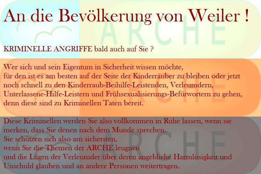 ARCHE An die Bevölkerung von Weiler_01c
