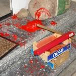 ARCHE Farbbeutel-Anschlag auf ARCHE_10