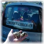 ARCHE Keltern-Weiler Säureattentat auf ARCHE-Auto_05