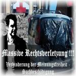 ARCHE Keltern-Weiler Säureattentat auf ARCHE-Auto_07