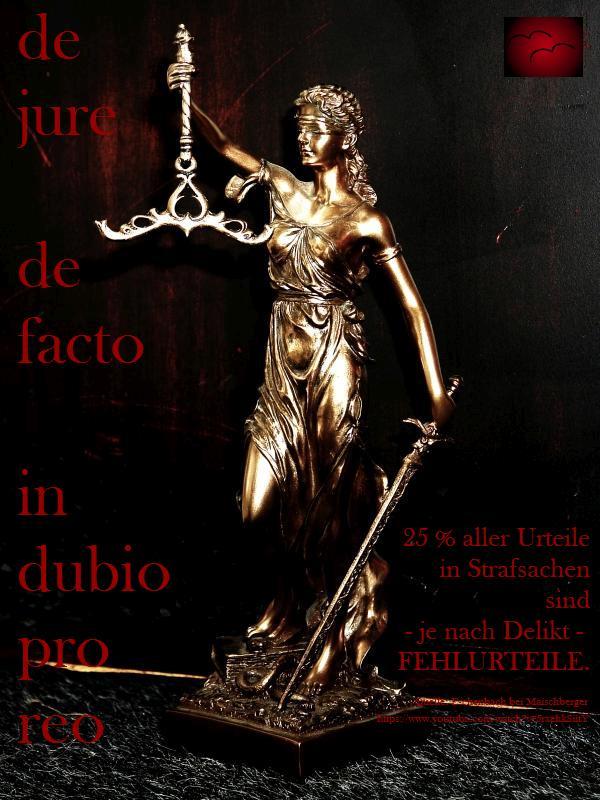 Justitia ist die Göttin der Gerechtigkeit. Wohlgemerkt die Göttin, nicht ein Richter, der der Gerechtigkeit nicht Herr sein wird und sein kann. Im besten Fall versucht er gerecht zu sein und nicht korrupt !