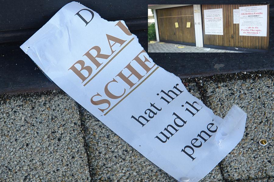 ARCHE Zerstörung der ARCHE-Plakatwand_06