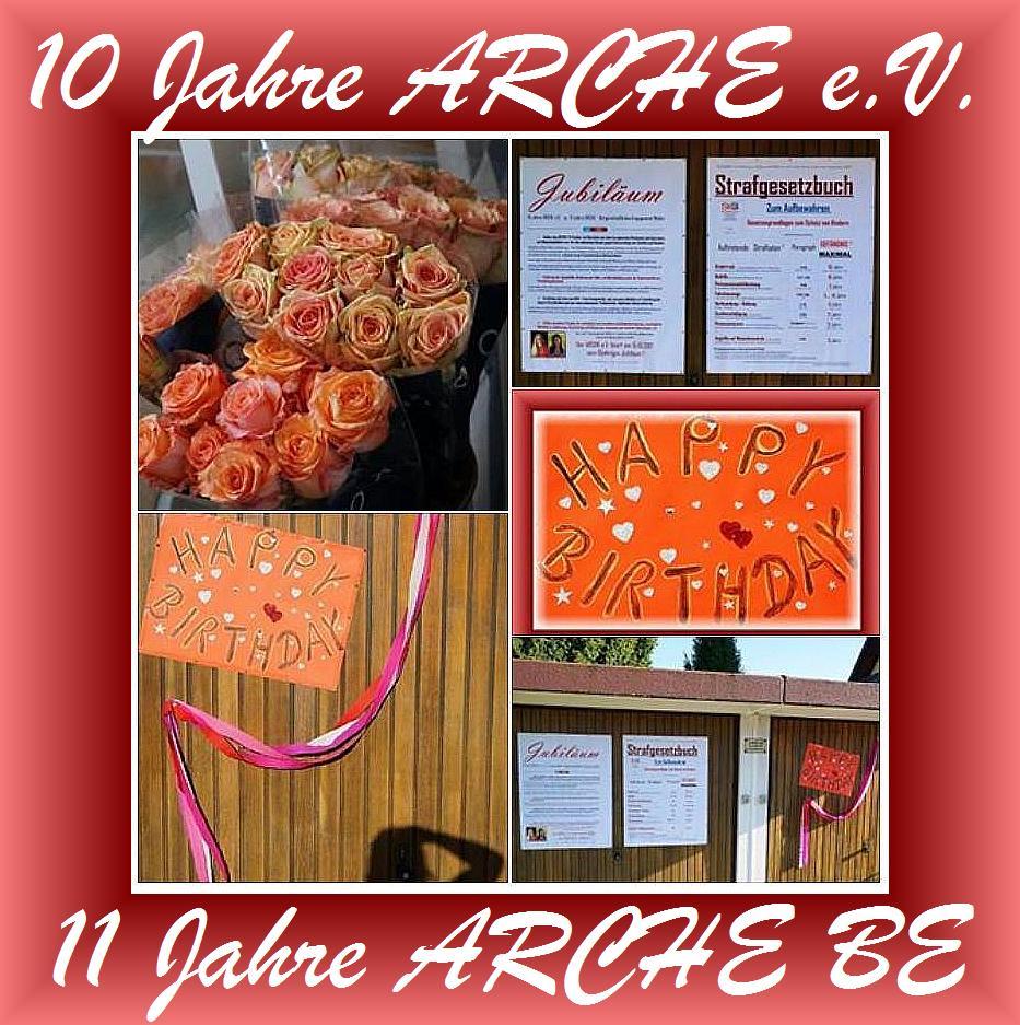 ARCHE feiert. 10 Jahre ARCHE e.V. und 11 Jahre Bürgerschaftliches Engagement Keltern-Weiler.