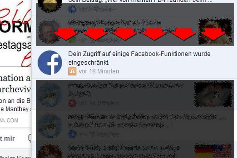 Blockierungen und Sperrungen bei Facebook fast an der Tagesordnung.