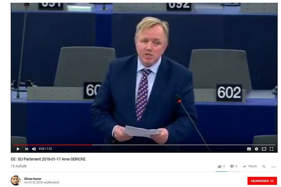 Abgeordneter im Europäischen Parlament. Arne Gerike für die Freien Wähler, Deutschland.