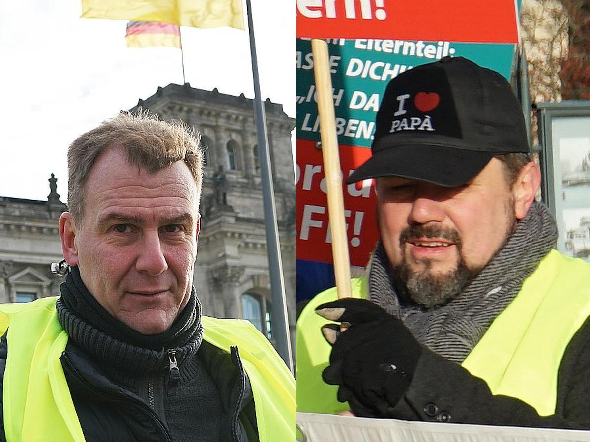 Gründungsmitglieder des SOS Kindesentführung e.V.: Marco di Marco und Thomas Karzelek.