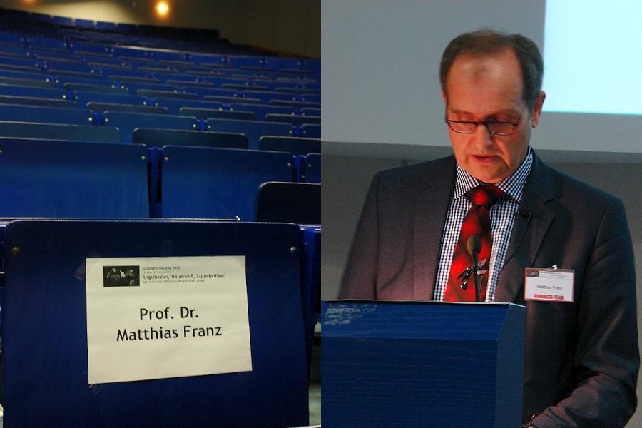 Prof. Dr. Matthias Franz. Experte für Entfremdungsfragen.