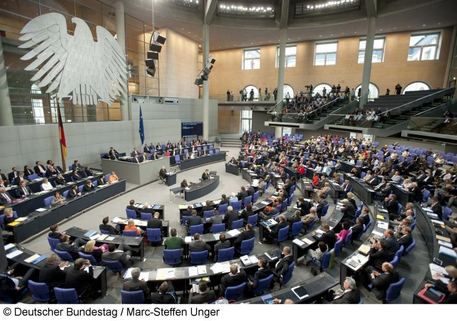 Plenarsaal © Deutscher Bundestag Marc-Steffen Unger