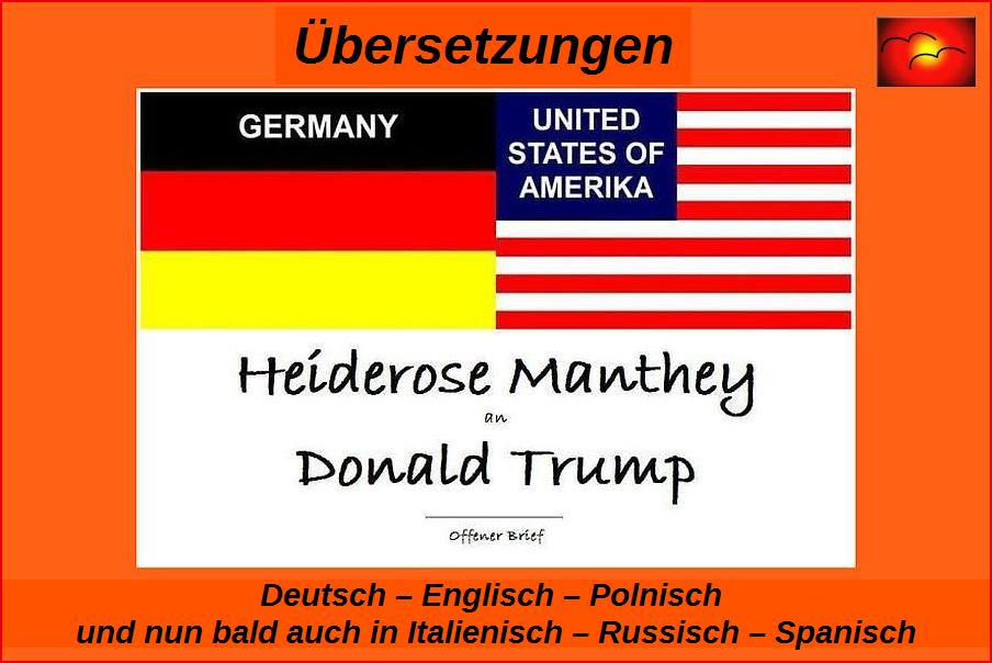 Offener Brief Heiderose Manthey an Donald Trump.