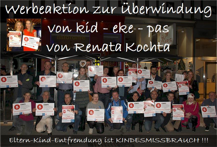 ARCHE kid - eke - pas Plakat © Renate Kochta © VoR_02c     Werbeaktion zur Überwindung von kid - eke - pas. Foto: © Renata Kochta und © Väter ohne Rechte (VoR)