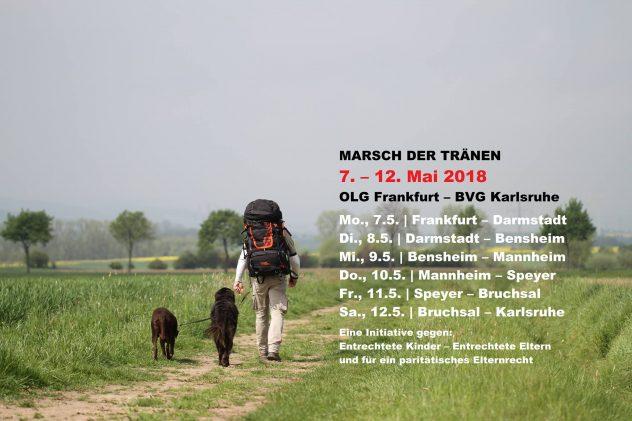 Der Marsch der Tränen. Mitlaufen darf jeder ! Foto © Mario Flaschenträger.