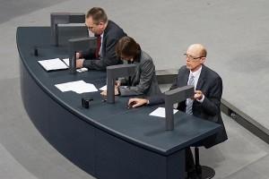Stenografen. Deutscher Bundestag.