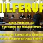 ARCHE OLG Düsseldorf Hilferuf an EU Verfolgung von Whistleblower Christidis gegen BDP e.V._04