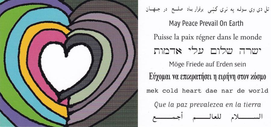 Möge Friede auf Erden geschehen.