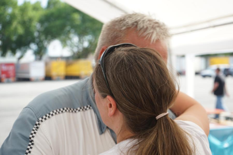 Die Helden. Sie habe es geschafft: Otto Höfler und Sandra Canon. Eine große Herausforderung liegt hinter ihnen !
