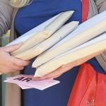 Abgabe bei der Post.