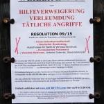 Aufklärungs-Plakat.