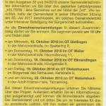 Einladung der Gemeinde Keltern in den Gemeindenachrichten.